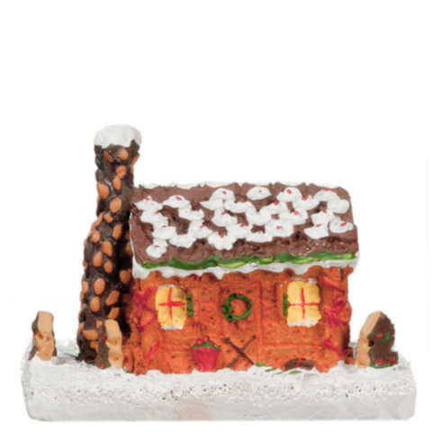 Dollhouse Miniature Gingerbread House - Little Shop of Miniatures