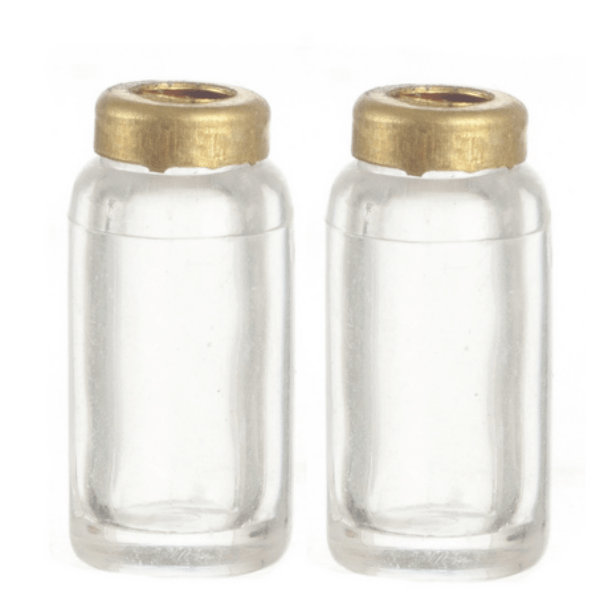 dollhouse miniature glass canisters
