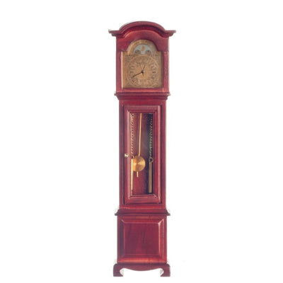 Working Dollhouse Miniature Mahogany Grandfather Clock - Little Shop of Miniatures