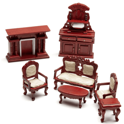 dollhouse miniature half scale living room set