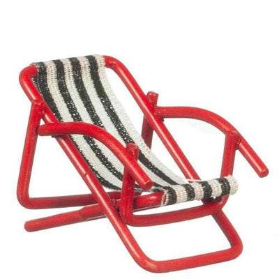 dollhouse miniature half scale lounge chair