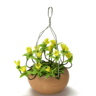 dollhouse miniature hanging basket