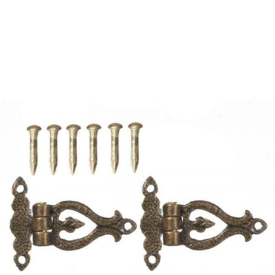 Antique Bronze Hinges with Pins - Little Shop of Miniatures