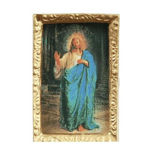 Dollhouse Miniature Jesus Portrait - Little Shop of Miniatures