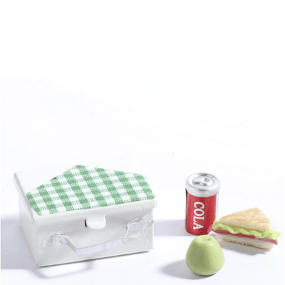 Dollhouse Miniature Lunch Box & Food Set - Little Shop of Miniatures