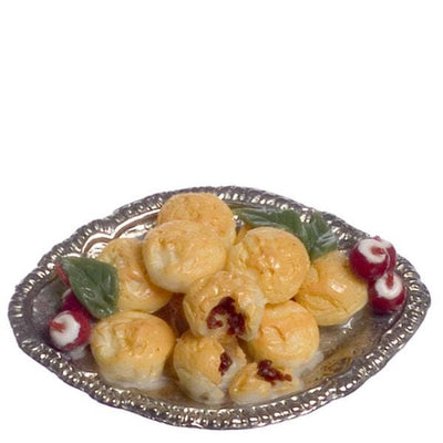 Dollhouse Miniature Meat Pies & Radishes - Little Shop of Miniatures