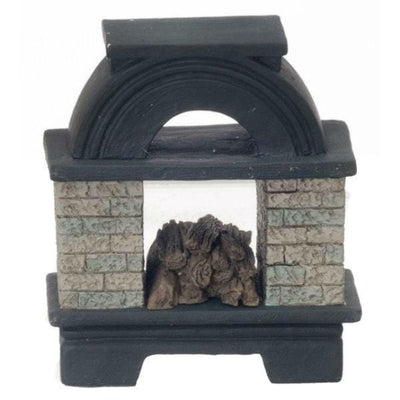 Dollhouse Miniature Open Outdoor Fireplace - Little Shop of Miniatures