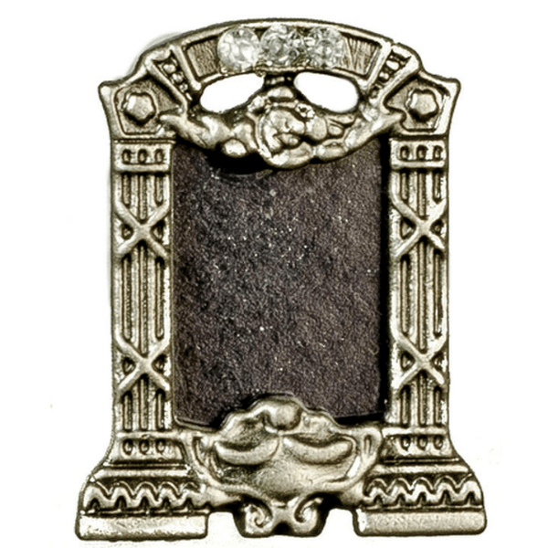 dollhouse miniature pewter picture frame