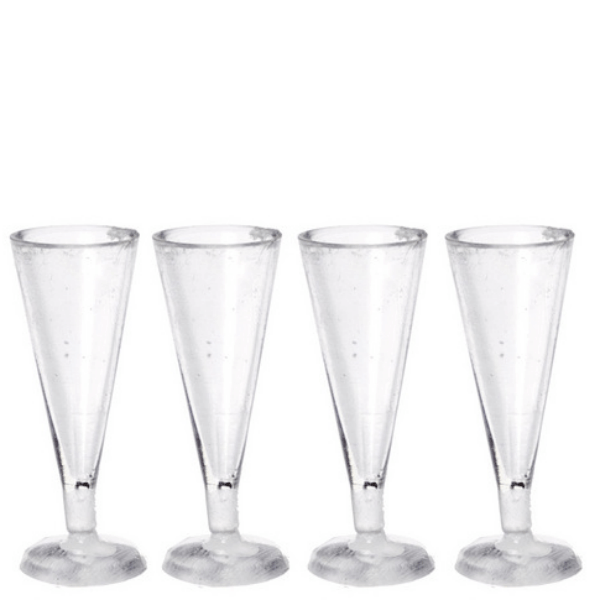 dollhouse miniature pilsner glasses