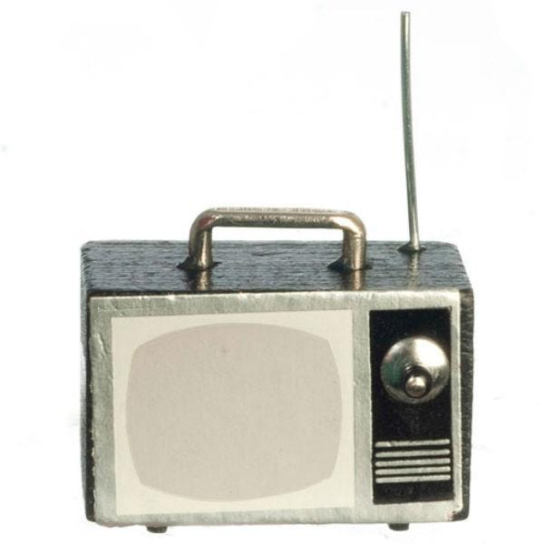 dollhouse miniature portable television