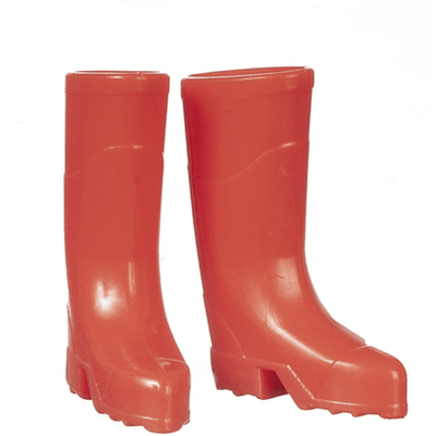 Red Dollhouse Miniature Rain Boots - Little Shop of Miniatures