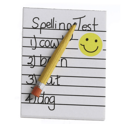 dollhouse miniature spelling test