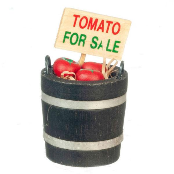 dollhouse miniature tomato barrel