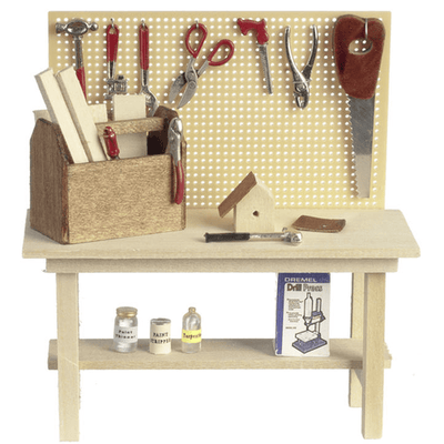 dollhouse miniature tool bench
