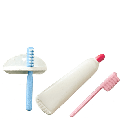 Dollhouse Miniature Toothbrush Set - Little Shop of Miniatures