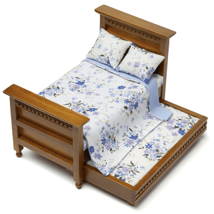 dollhouse miniature trundle bed