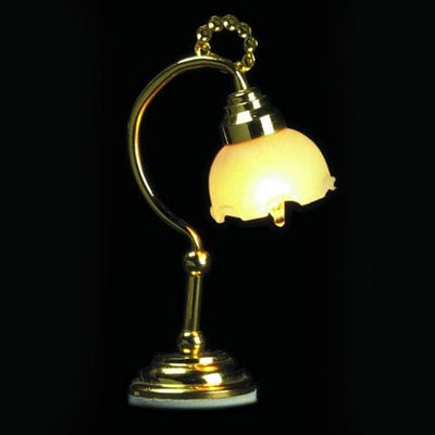 dollhouse miniature tulip desk lamp