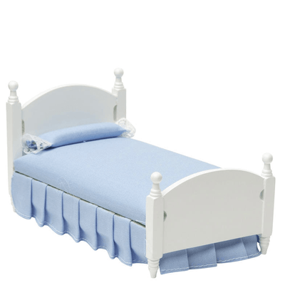 dollhouse miniature twin bed