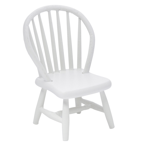 dollhouse miniature white chair
