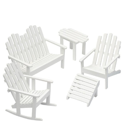 Dollhouse Miniature White Adirondack Chair Set - Little Shop of Miniatures