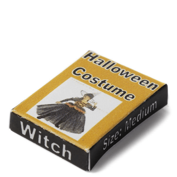 dollhouse miniature witch costume box