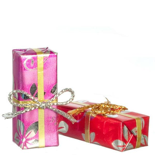 dollhouse miniature wrapped gifts
