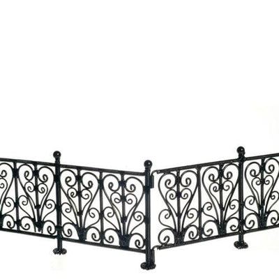 dollhouse miniature wrough iron fence