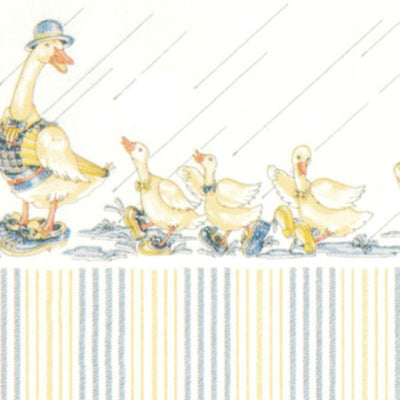 Dapper Ducks Dollhouse Wallpaper - Little Shop of Miniatures