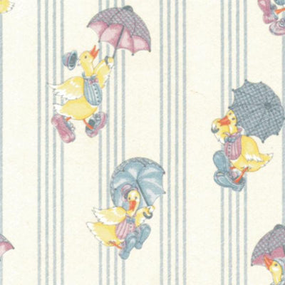 Raining Ducks Dollhouse Wallpaper - Little Shop of Miniatures