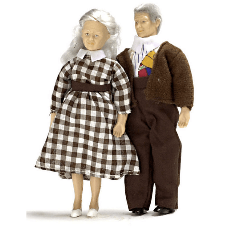 elderly dollhouse dolls