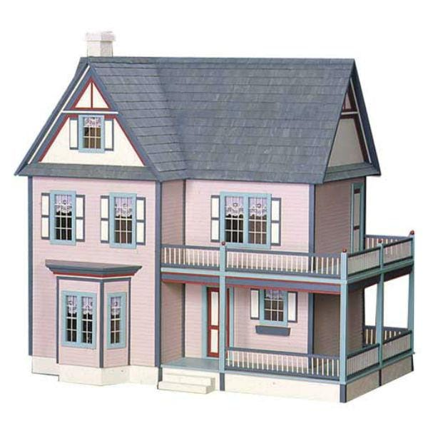 A farmhouse wood doll house.