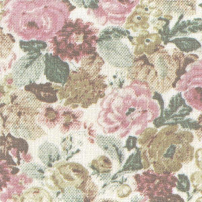 Floral dollhouse wallpaper.
