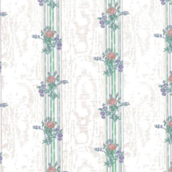 floral striped dollhouse wallpaper