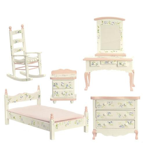 girls dollhouse miniature bedroom set