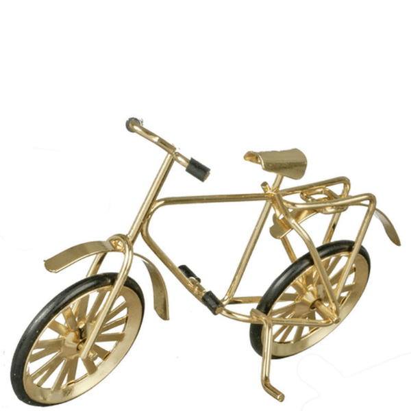 gold dollhouse miniature bicycle