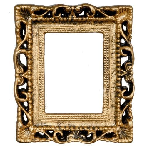 gold dollhouse miniature frame