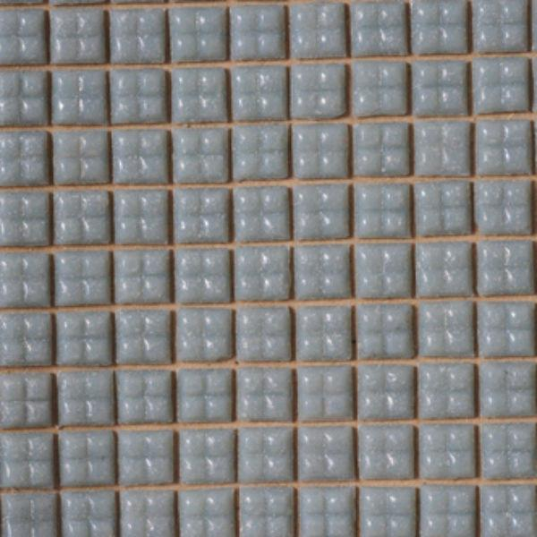Gray glass dollhouse miniature tile sheet.