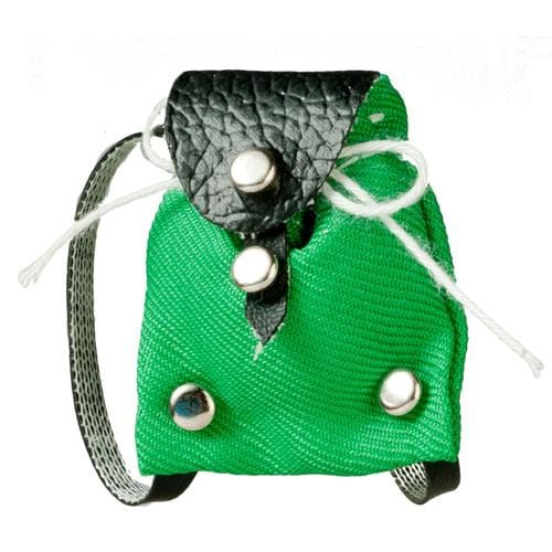 green dollhouse doll backpack