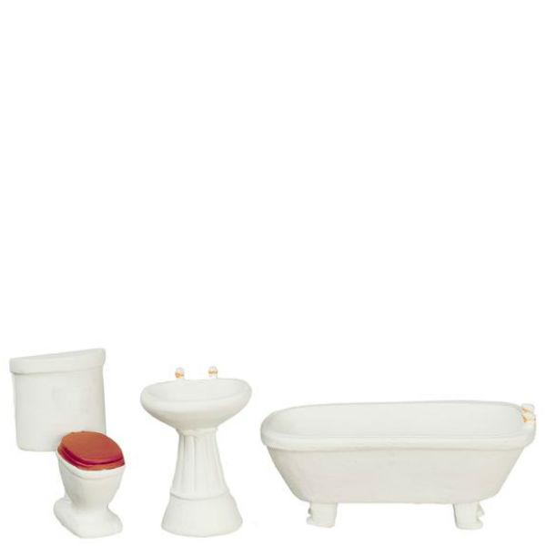 half scale dollhouse miniature bathroom set