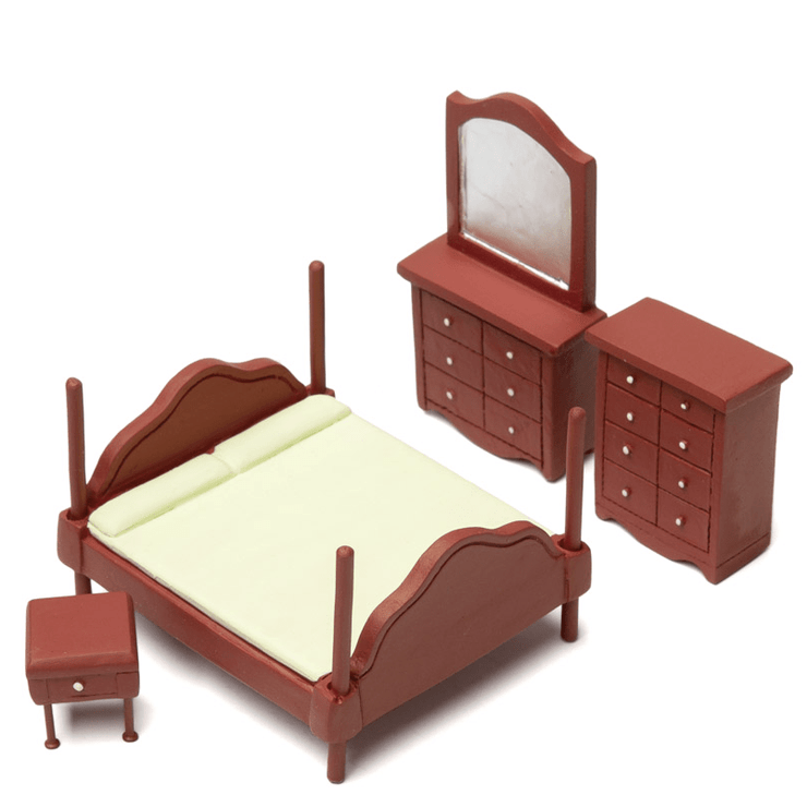 half scale dollhouse miniature bedroom set