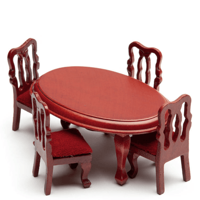 half scale dollhouse miniature dining set