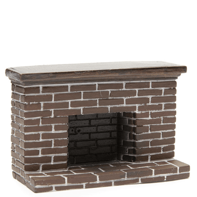 half scale dollhouse miniature fireplace