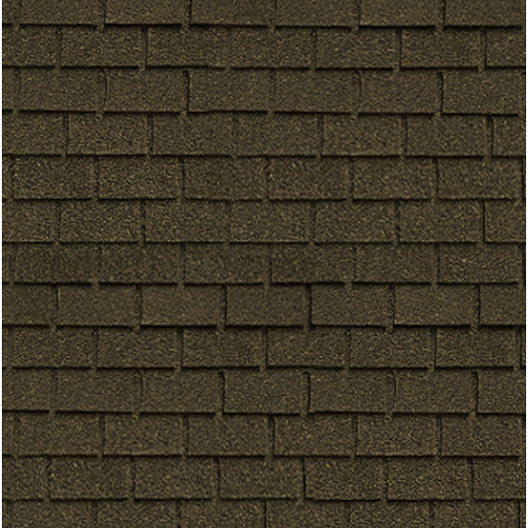 1/24 Scale Dollhouse Miniature Brown Asphalt Shingles