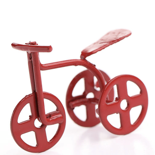 half scale dollhouse miniature tricycle
