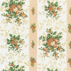 Historic floral dollhouse wallpaper.