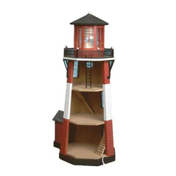 interior of a half inch scale miniature lighthouse