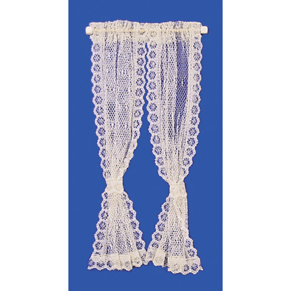 lace dollhouse miniature curtains