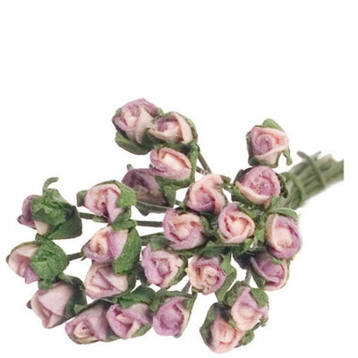 Dollhouse Miniature Lavender Rose Bud Stems - Little Shop of Miniatures