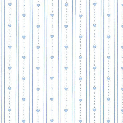 light blue dollhouse wallpaper with hearts