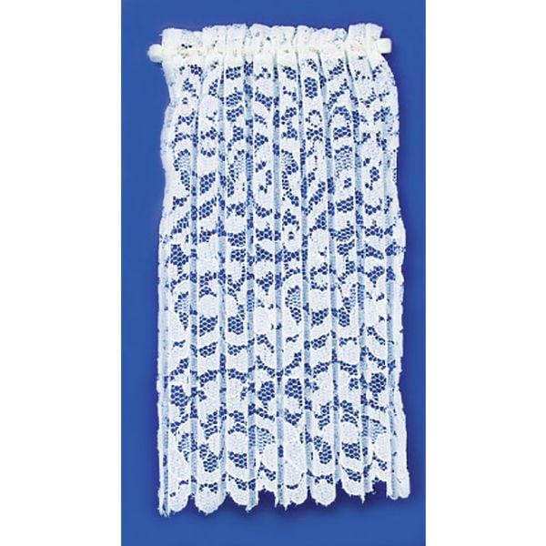 Long lace dollhouse miniature curtain.